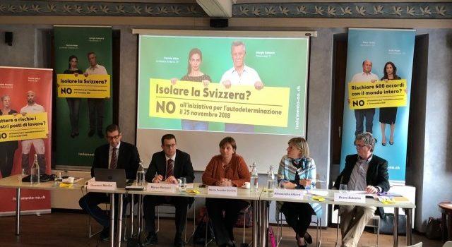 NO all'isolamento della Svizzera